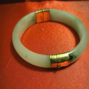 Real Jade Bracelet With Gold Plated Lock